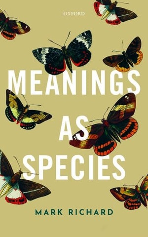Meanings As Species Book Cover