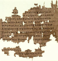 Plato, The Republic, page from oldest known manuscript